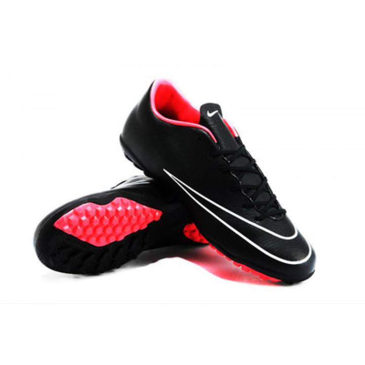 Сороконожки Nike mercurial, черный с красным